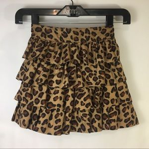 Old Navy Leopard Ruffle Skirt